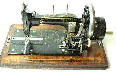 19C Antique Frister & Rossmann Hand Crank Sewing Machine [5387]