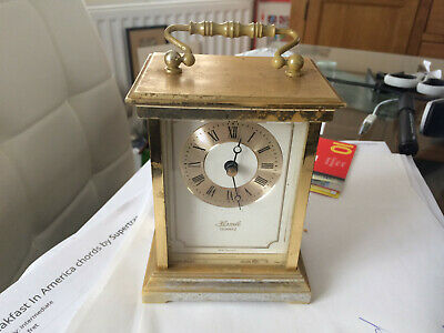 Hermle West Germany Quartz Carriage Clock in working order