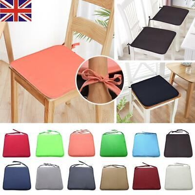 THICK ITALIAN FABRIC Chair Cushion SEAT PADS Tie On Kitchen Garden Dining SQUARE