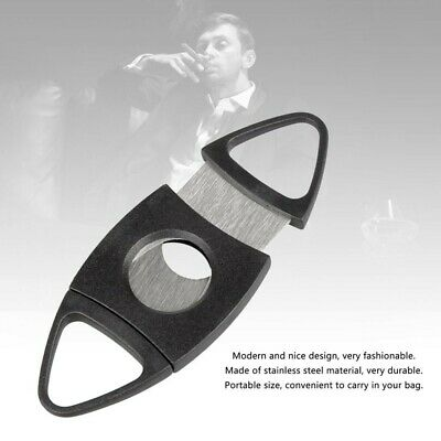 Double Blades Cigar Cutter Knife Scissors Shear Tobacco Trimmer Tool TCICK 1259