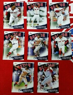 2019 Topps Series 2 Mookie Betts Highlights 8 Card Lot No Dupes