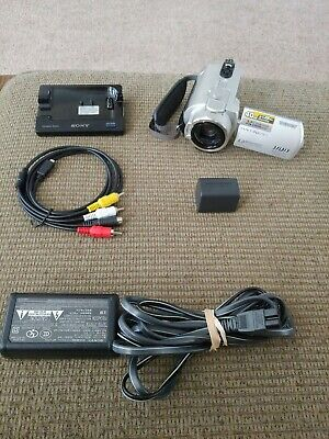 Sony Handycam Camcorder DCR-SR200 40GB Hard Drive w/ dock + charger + AV cables
