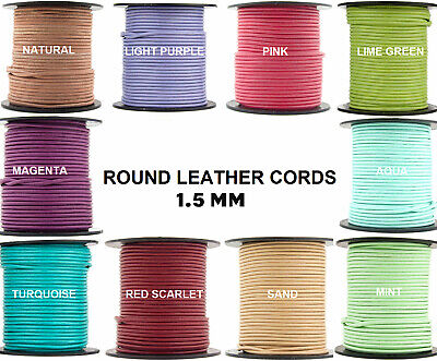 Xsotica® Regular Shades Round Leather Cord 1.5mm