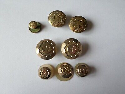 8 Vintage & antique collar shirt dress studs inc mother of pearl & Victorian
