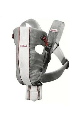 Baby BJORN AIR Mesh Baby Infant CARRIER Gray-White-Red Up To 25lbs USED