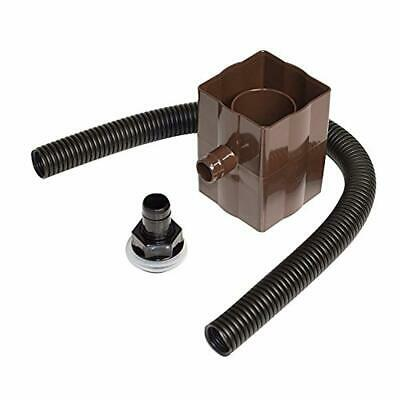 Brown Rain Water Diverter Kit Fits Square and Round Down Pipes