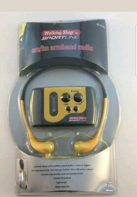 Walking Shop by Sportline AM/FM Armband Radio Yellow WS3109GY Sports Walkman