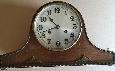 VINTAGE MANTLE CLOCK  sold for spares or repair condition unknown