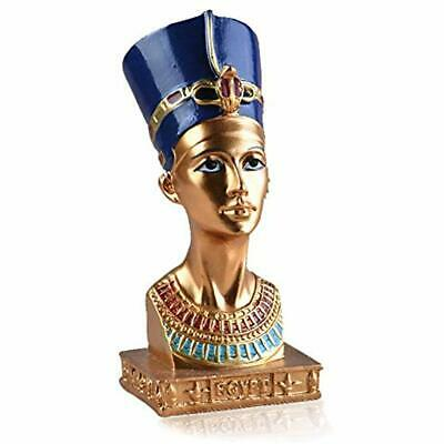 Ancient Statues Egyptian Queen Nefertiti Small Head Bust Resin Figurine Home
