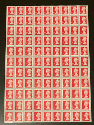 100 x 1st Class Security Stamps Unfranked OFF PAPER