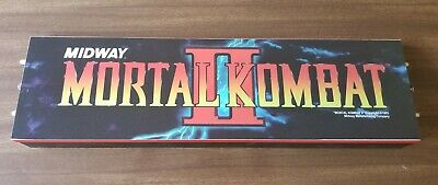 Arcade1up Walmart mortal kombat 2 original top marquee