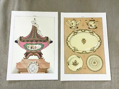 Vintage Prints Antique French Sevres Porcelain Teapot Table Centerpiece Design
