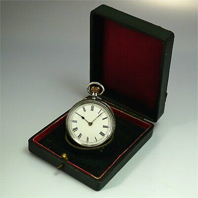 1890-1900 sterling silver 0.935 antique pocket watch Andre Mathey Swiss Made