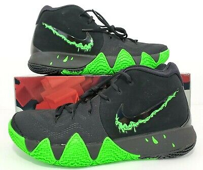 check out 7377b 88a13 NIKE KYRIE 4 'Halloween' Black Rage Green 943806-012 Men's Size 12 no lid