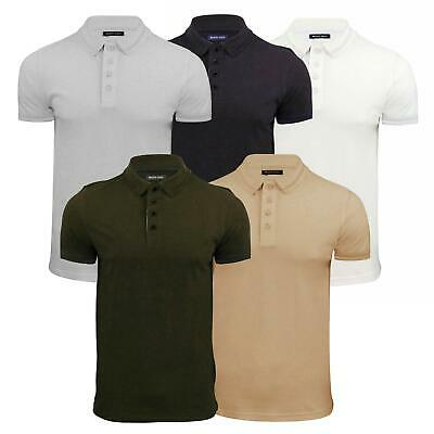 Mens Polo T Shirt Brave Soul Helix Pique Short Sleeve Tipped Collar Casual Top
