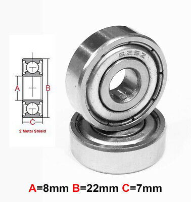 AT Stainless Steel Bearing MS 8x22x7mm Metal Seal (S608ZZ) (1pc)