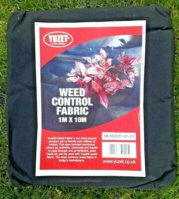 Yuzet 10m x 1m Wide Weed Control Fabric Membrane Ground Cover