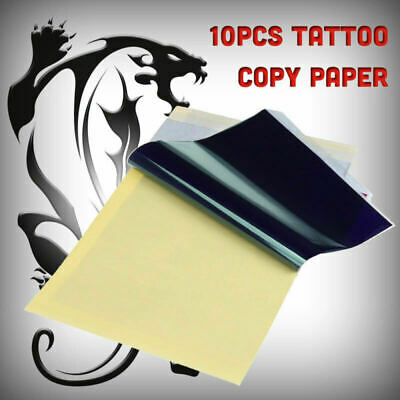 10 Sheets A4 TATTOO TRANSFER PAPER THERMAL CARBON STENCIL PAPER Hectograph US