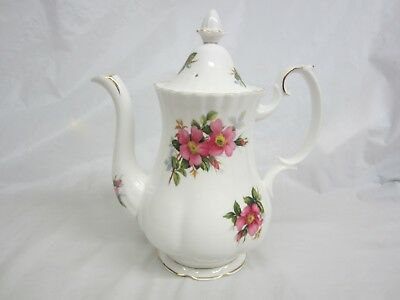 Large  Royal Albert Prairie Rose Coffee Pot Excellent England