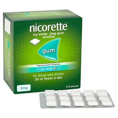 NICORETTE 2mg NICOTINE GUM - 210 PIECES - ICY WHITE