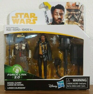 Star Wars Solo Lando Calrissian & Kessel Guard Action Figures Force link 2.0