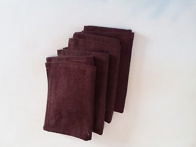 "4 _ Pack 11"" x18"" _ Brown Fingertip Towels 100% Cotton- Terry-Velour."
