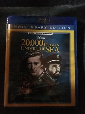 20,000 Leagues Under The Sea Blu-ray Disc NEW Walt Disney USA SEALED Anniversary