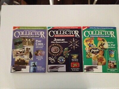 3 Vintage  Antique Trader's Magazine And Price Guide May, June 1996 & July 1996