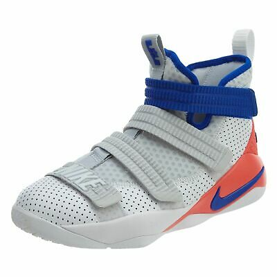 newest abb92 78fe0 NIKE LEBRON SOLDIER Big Kids 918369-008 Black Red Shoes Size ...