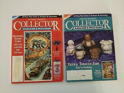 2 Vintage  Antique Trader's Magazine And Price Guide Jan 1996 & March 1996