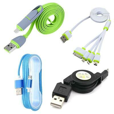 Micro USB Retractable Data Charger Charging Cable Cord For Smart Phones Tab BG