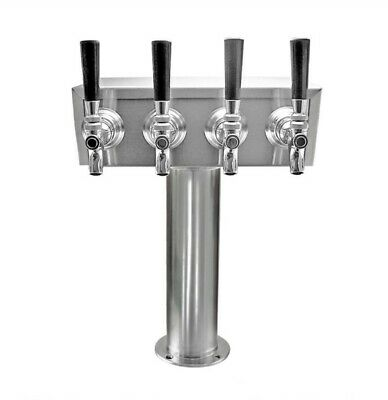 Taprite Stainless Steel 4 Tap Draft beer T-Tower (Glycol Lines)