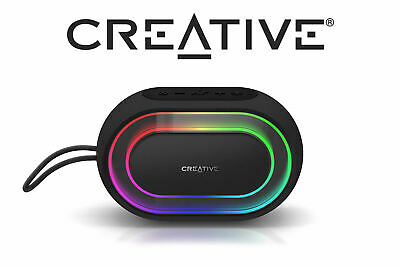 Creative Halo Portable Bluetooth Speaker Programmable Lightshow Stereo Music