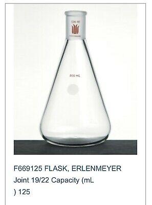 F664125 Synthware Erlenmeyer Flask, 125 mL, 24/40 Outer Joint