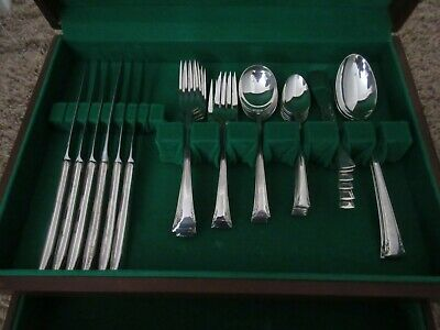 ANTIQUE 42pc. INTERNATIONAL SERENITY STERLING SILVER SIX PLACE SETTING