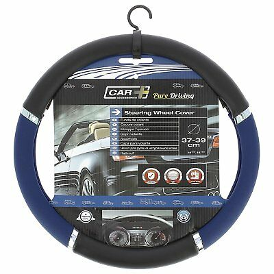 Sumex Speed Black / Blue Pvc Universal Fit Car Steering Wheel Cover 2505056