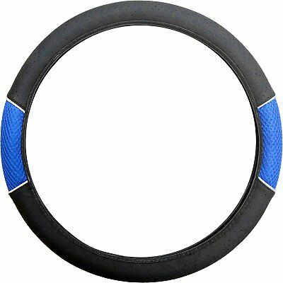 Sakura Carnaby Blue Universal Fit Car Steering Wheel Cover Blue Mesh Ss1447