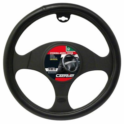 Carpoint Black Leather Look Universal Car Steering Wheel Cover 2510103