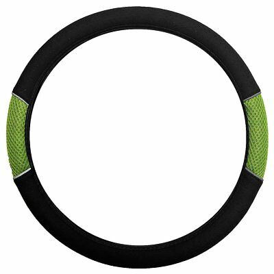 Sakura Carnaby Green Mesh & Black Universal Fit Car Steering Wheel Cover Ss5317