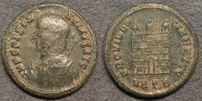 Ancient Roman Coin AE Follis Constantine I The Great Heraclea 306-337AD Campgate