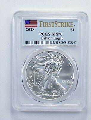 MS70 2018 American Silver Eagle - First Strike - Graded PCGS *357
