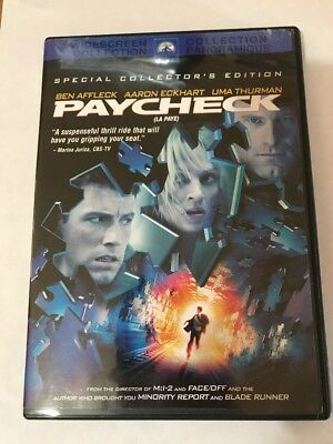 PAYCHECK DVD 2004 Canadian Widescreen Special Collectors edition