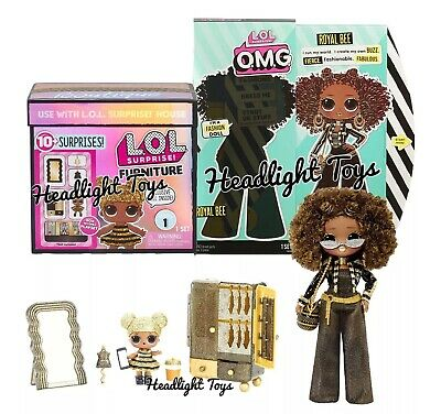 LOL Surprise Royal Bee OMG Fashion Doll + Queen Bee BB Boutique Spaces Furniture