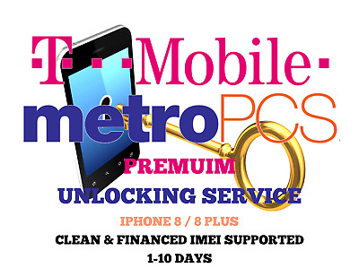 Premium Tmobile iPhone 8 / 8 + Unlocking Service