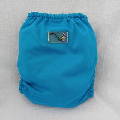 Rumparooz Pocket Blue Cloth Diaper Snap Closure New Elastic