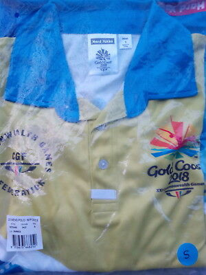 GOLD COAST COMMONWEALTH GAMES 2018 VOLUNTEER UNIFORM MENS POLO SHIRT CHEST 110cm