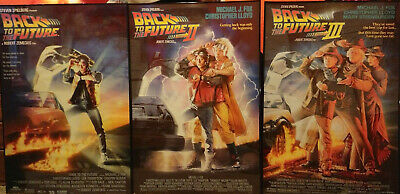 Lot of Used Single-Side 27x40 Movie Back to the Future I, II, III Movie Posters