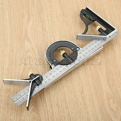 300mm Combination Square Angle Ruler Protractor Sliding Ruler Carpenter Use Tool