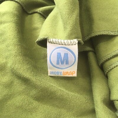 MOBY Wrap Classic The Comfortable Baby Carrier 8-35lb Green Good used Condition