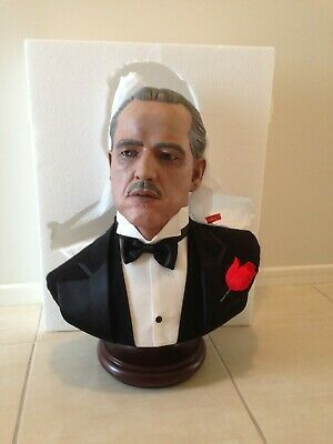 The Godfather (Vito Corleone) Life size Statue Bust: *New* Sideshow Collectibles